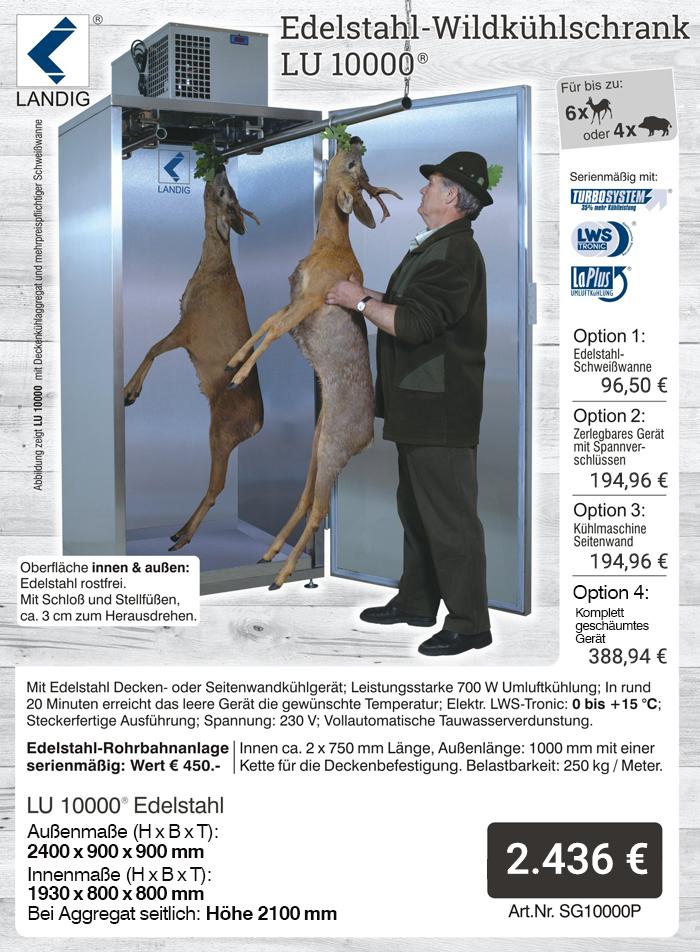 Jetzt das Original von landig bestellen: Wildkühlschrank LU 10000 Plus - profigeräte aus dem Hause Landig
