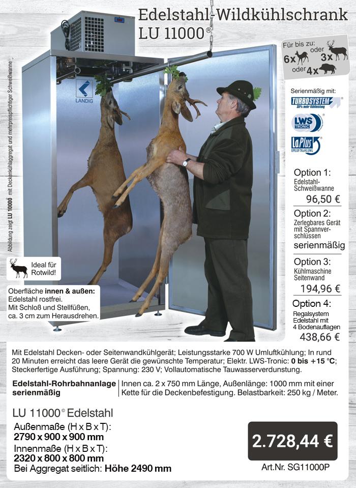 Jetzt das Original von landig bestellen: Wildkühlschrank LU 11000 Plus - profigeräte aus dem Hause Landig